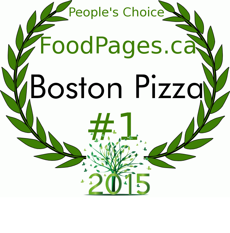 Boston Pizza FoodPages.ca 2015 Award Winner